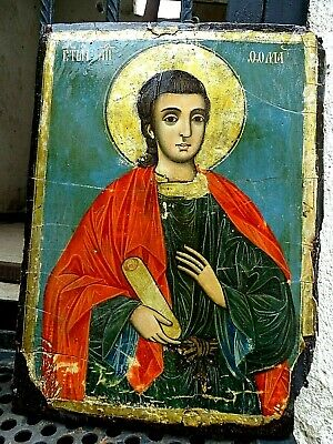 ANTIQUE very old ancient Orthodox icon of St. Thomas the Apostle