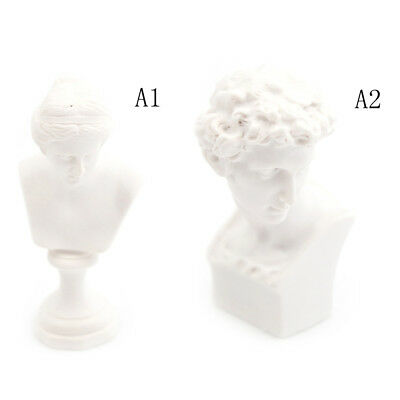 Dollhouse Miniature Resin Statue Venus David Bust  Sculpture White BB