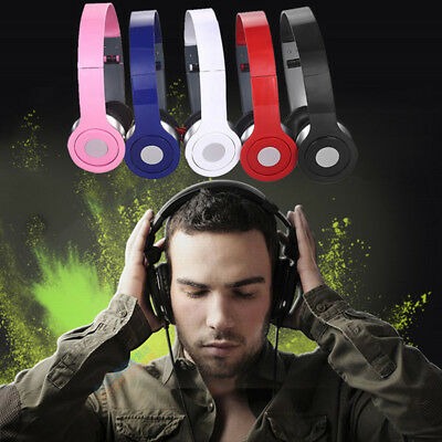 Teens Kids Childs Foldable DJ Headphones 3.5mm Wired Game Earphones B$BB