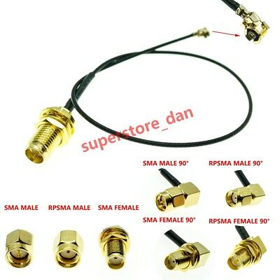 U.FL/IPX to RP-SMA SMA Female Male Antenna WiFi Pigtail Cable ufl ipex 1.13mm