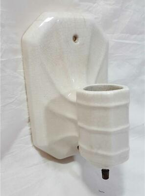 Antique Franklin Pottery 5120 Art Deco Porcelain Wall Light Sconce with Outlet