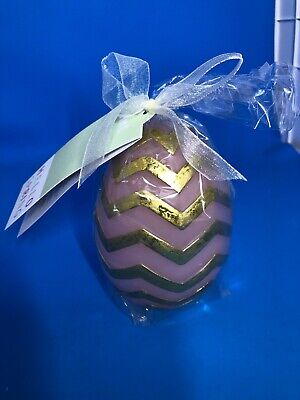 Pier 1 Imports NWT Easter Spring LED LIGHT UP EASTER EGG PINK GOLD WITH TIMER