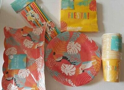 Tropical Hawaiian Summer Cocktail Tea Hen Party Paper Cups Plates Napkins