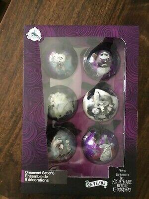 Disney Tim Burton's The Nightmare Before Christmas Ornament Set Of 6.