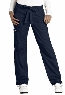 323aceda699 New Koi Women's Lindsey Cargo Scrub Pants Nursing Pants 6 Pocket #701 Petite