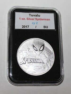 Framed Tuvalu Marvel Spiderman 1 oz .999 Silver $1 Coin In Mint Cap homecoming