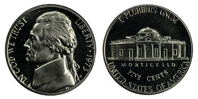 1973 S Gem Bu Proof Jefferson Nickel 5 Cent Brilliant Uncirculated Us Coin Pf