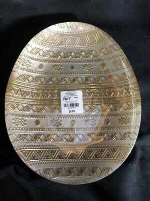 Pier 1 Imports NWT Easter Spring LUSTER GLASS GOLD EASTER EGG SALAD PLATE