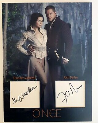 Ginnifer Goodwin Josh Dallas Once upon  signed autograph photo 12x16 inch + COA