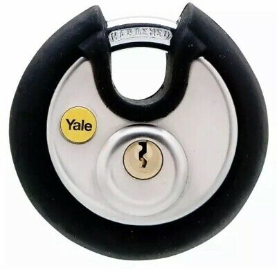Yale Locks Y130/70mm Stainless Steel Disc Padlock, High Security.