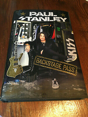 PAUL STANLEY SIGNED BOOK BACKSTAGE PASS AUTOGRAPHED KISS 1st EDITION MINT NEW