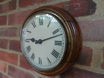 Gillet & Johnston Handsome Oak Slave Clock Antique Wall Clock Masterclock