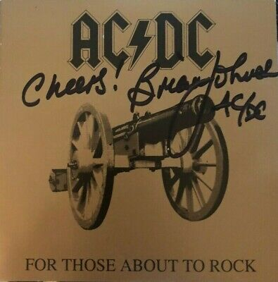 Brian Johnson signed autographed CD booklet AC/DC Rare For Those About to Rock
