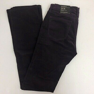 8547bf1916c NWT Banana Republic Purple Slim Stretch Bootcut Cords Corduroy Pants Sz 26  (2)