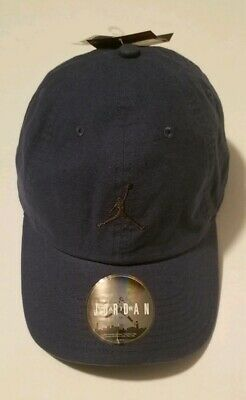 newest 3c281 7e0fb Air Jordan Jumpman Floppy H86 Washed Daddy Hat Cap Navy Brown NEW 918447-414