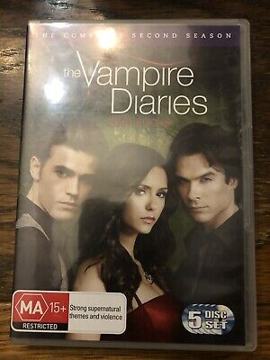 Vampire Diaries : Season 2 (DVD, 2011, 5-Disc Set) - Like New - PAL region - R4