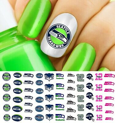 Seattle Seahawks Football Nail Art Decals - Salon Quality!