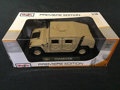 1/18 Humvee Hummer H1 Maisto Tan Military Army Swat Extremely Rare New