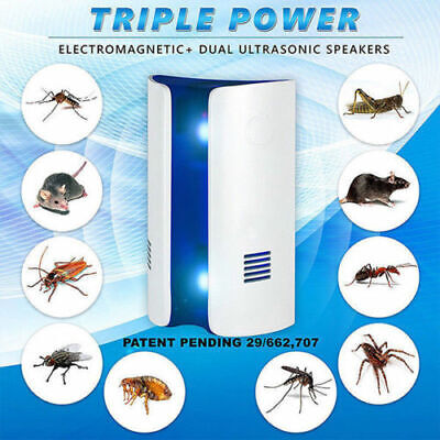2019 Ultrasonic Electronic Pest Control Mosquito Cockroach Mice Killer Repeller