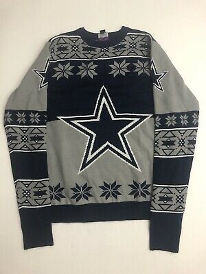 33a3d525 MENS NFL TEAM Apparel Dallas Cowboys Ugly Xmas Sweater SIze Small Nice  Christmas