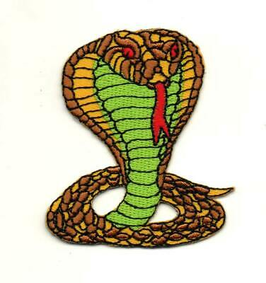Snake Cartoon 127-Y G.I Joe Cobra Enemy Embroidered Iron On Patch