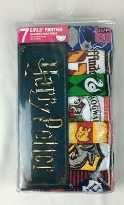 Harry Potter Size 4 Girls Panties 7 Total New 100% Combed Cotton