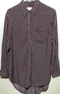 a89bc4fa1bc Anthropologie Maeve Stripe Button Front Shirt Red White Blue Hi-Low Women's  M