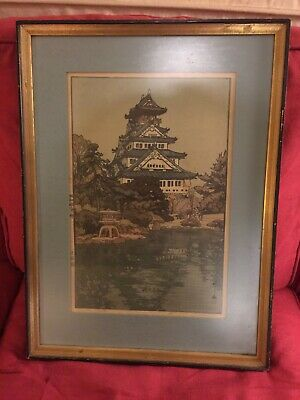 Hiroshie Yoshida Osaka Castle framed and numbered print