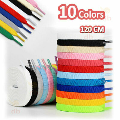 New 2 Pairs Shoelaces Colorful Coloured Flat Round Bootlace Sneaker Shoe Laces