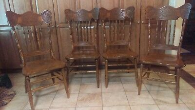 Antique Celtic Dragon Carved Dining Chairs  (4 of set)