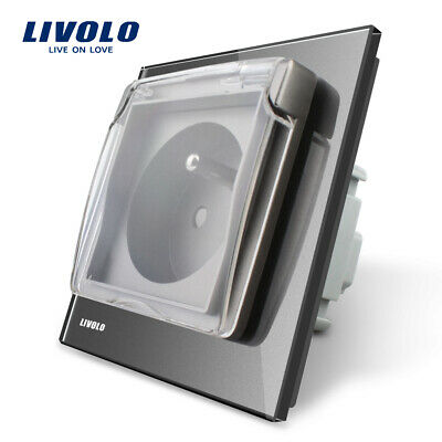 Livolo New Outlet French Standard Power Socket with the Waterproof Cover