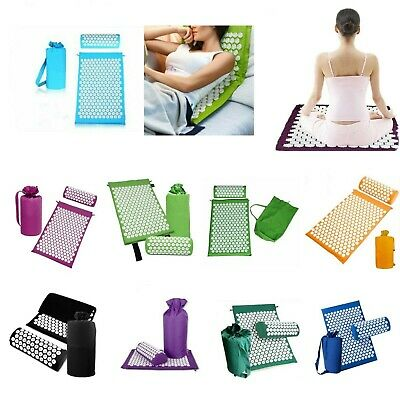 3 Pcs Yoga Mat Massage Acupressure Shakti Sit Lying Cut Pain Stress Soreness