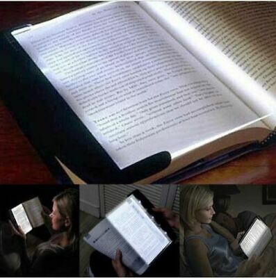 Creative LED Book Light Reading Night Flat Plate Portable Car Travel Panel Lamp