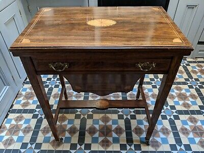 Antique Victorian inlaid Games/Cards Table