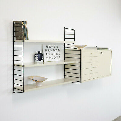 Original white Shelving System Shelf STRING by Nisse Strinning 60s Regal Weiß n2