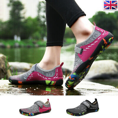 Womens Aqua Shoes Swimming Unisex Rubber Slip On Wetsuit Beach Surfing Sea Water