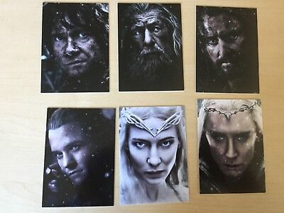 RARE Cryptozoic Hobbit  Battle of the Five Armies : 6 Card Character Insert Set