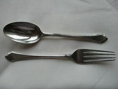 Vintage Mappin & Webb Solid Silver Spoon And Fork. Hallmarked Sheffield 1938.