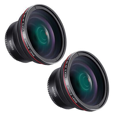 58MM 0.43x Professional HD Wide Angle Lens Macro Portion for Canon EOS Rebel
