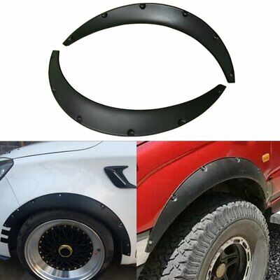 2pcs Universal Widened JDM Fender Flares Wheel Arch ABS Car Fittings Black