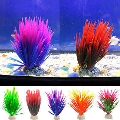 Fish Tank Aquarium Decoration Accessories Plastic Water Grass Plants Ornament