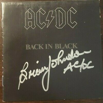 Brian Johnson signed autographed CD booklet AC/DC Rare Back in Black