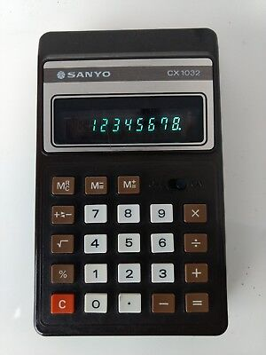 Vintage 1980 Sanyo CX-1032 Pocket Calculator -Made in Japan
