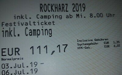 ROCKHARZ FESTIVAL OPENAIR FESTIVAL 03.07.19 bis 06.07.19 TICKETS INKL. CAMPING