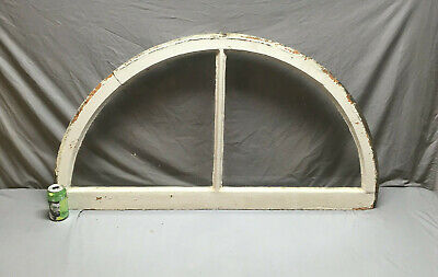 Antique Arch Dome Top Half Round Window Sash 2 Lite Transom Vtg 176-19L