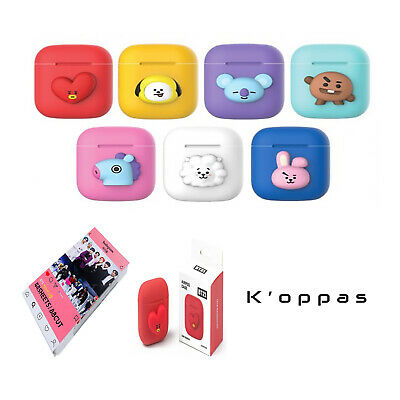 Official Kpop BTS BT21 Airpods Silicone Case Cover With Instagram Photo Card