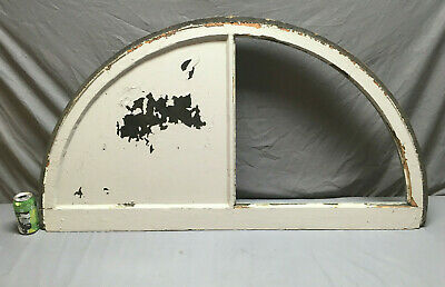 Antique Arch Dome Top Half Round Window Sash 2 Lite Transom Vtg 178-19L