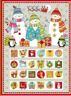 "Makower Silent Night Advent Panel housesTraditional 23/""x44/"" free p/&p 100/% cotton"