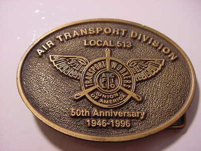 Vintage Belt Buckle - 50 Year - Transport Workers Union  AFL-CIO Local 513 46-96