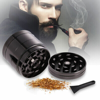 New Spice Herbal Zinc Alloy Smoke 4 Layers 2 Inch Black Tobacco Herb Grinder US